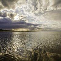 Река и Рижский залив встречаются вместе. :: Gennadiy Karasev