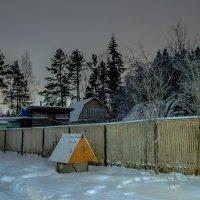 Зима. Деревня. Ночь. :: Edward J.Berelet