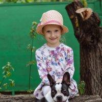 Девочка с собакой :: Александр Гапоненко
