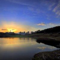 Закат над озером...5 :: Андрей Войцехов