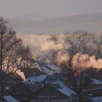 Утро  в  посёлке. :: Анатолий 2015 Трепышко