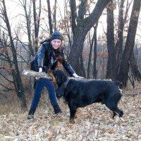 Дочь моя на прогулке с собакой :: Татиана ...