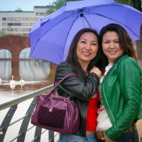 Прогулка под дождем :: Айнагуль Бекебаева