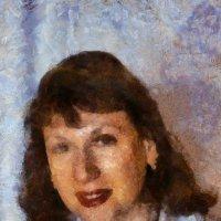 Портрет Юлии Бродской в стиле Бенсона :: Юрий А. Денисов