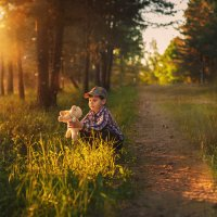 Прогулка с овечкой :: Наталья