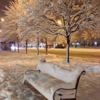 зимняя лавочка :: Елена Романова