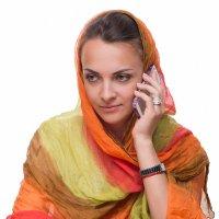 Портрет молодой женщины в цветной шали :: Анатолий Тимофеев