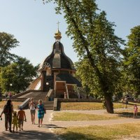 Гидропарк  Храм крещения Господнего Киев :: Александр тарасенко