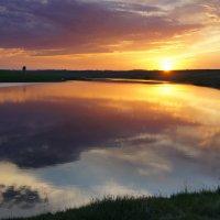 Степное озеро. Вечер :: Виктор Четошников