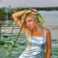 Портрет девушки в серебристом платье :: Free