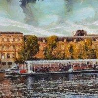 Париж, Сена, теплоход, мольберт. :: Виктор Никаноров