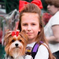 Девочка и собака :: Lika Shakhmatova