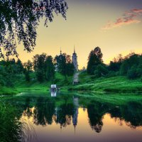 река Руза вечером :: Андрей Куприянов