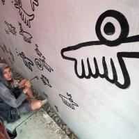 Паша Бумажный в Музее стрит-арта :: Игнат Веселов