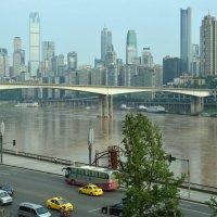 Город Changqing и река Янцзы :: Андрей Фиронов