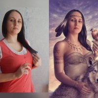 Pocahontas... До/После :: Юлия Тягушова