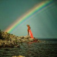 Радуга настоящая,после дождя! :: Алла Кочкомазова