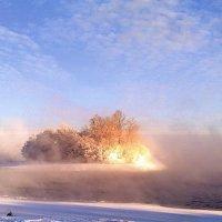Морозное утро на Москва-реке :: Борис Александрович Яковлев
