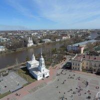 Вид с колокольни - церковь Ал.Невского, Кремлевская пл :: Ирина Л