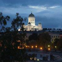 Хельсинки. Вид на белый лютеранский Кафедральный собор :: Елена Павлова (Смолова)