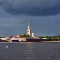 Петербург. Петропавловская крепость с Дворцовой набережной. После дождя :: Минихан Сафин