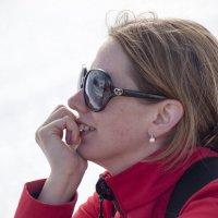 Очарованная Антарктидой!☺ :: Юрий Казарин
