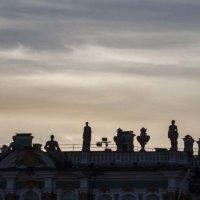 Крыша ночного Зимнего дворца :: Сергей Sahoganin