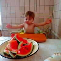 Первый раз едим арбуз :: Елена Хомкалова