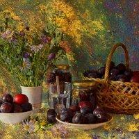 Краски лета со спелыми сливами. :: Валентина Налетова