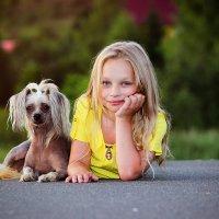 Девочка с собачкой :: Олька Никулочкина