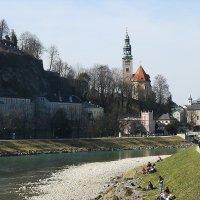 Река Зальцах в черте города :: Елена Павлова (Смолова)