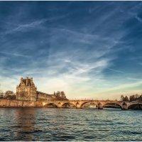 Апрельским вечером по Сене...Париж,Франция. :: Александр Вивчарик