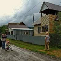 Визит городских в село.Снимок на память. :: Владимир Михайлович Дадочкин