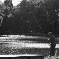 Рыбак на золотом озере :: Анна Квициния