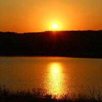 Кантемировское озеро,Воронежская область,закат солнца.. :: Наталья Верховцева