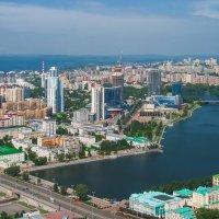 Екатеринбург с птичьего полета :: vladimir Bormotov