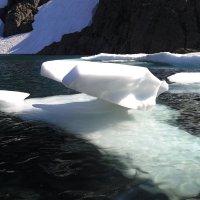Ледниковое озеро на траверсе к г. Сабля :: Василий