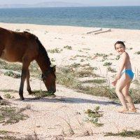 Море, лошади,...что ещё нужно ребёнку!? :: Вячеслав Кузнецов