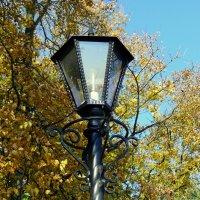 фонарь в осеннем парке :: Александр Прокудин