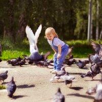 В компании голубей)) :: Юлия Клемешова
