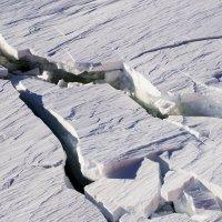 Трещины в антраткическом льду :: Alexey alexeyseafarer@gmail.com