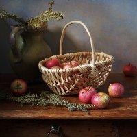 Яблочки и корзинка :: Татьяна Карачкова