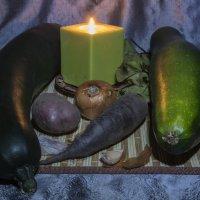Этюд со свечой и овощами :: Aнна Зарубина