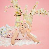 Фотосессия малышки в студии :: марина алексеева