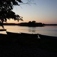 Вечер на озере Селигер у дер. Заречье :: Елена Павлова (Смолова)