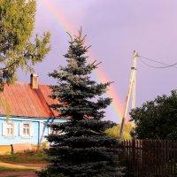 Разноцветное коромысло над деревней повисло :: Татьяна Ломтева
