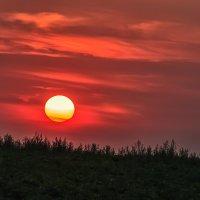 Закатное солнышко прячется за пригорок :: Ирина Приходько