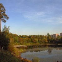 Сентябрьский вечер на пруду :: Андрей Лукьянов