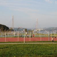 Спортивная площадка.Территория ДВФУ :: Владимир Гробов