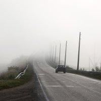 туман над Волгой :: Марина Черепкова